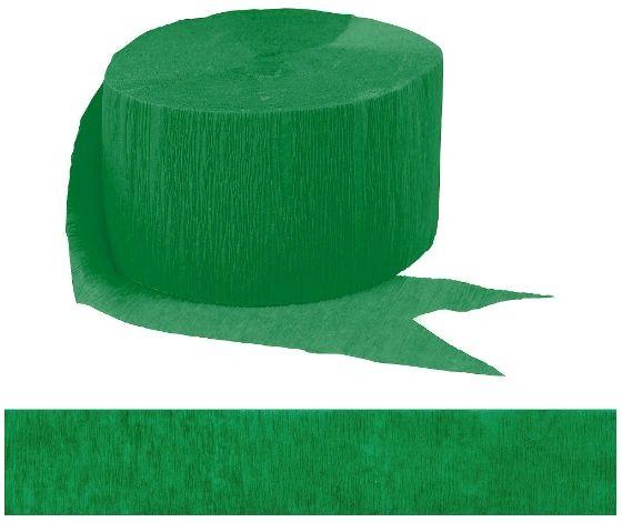 Festive Green Crepe Streamer, 81ft