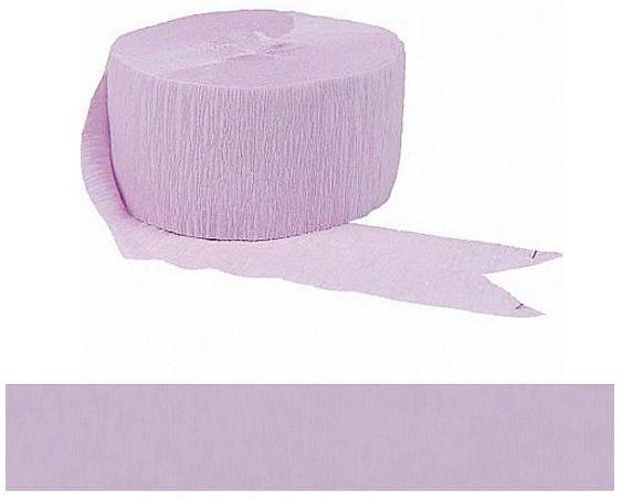 Lavender Crepe Streamer