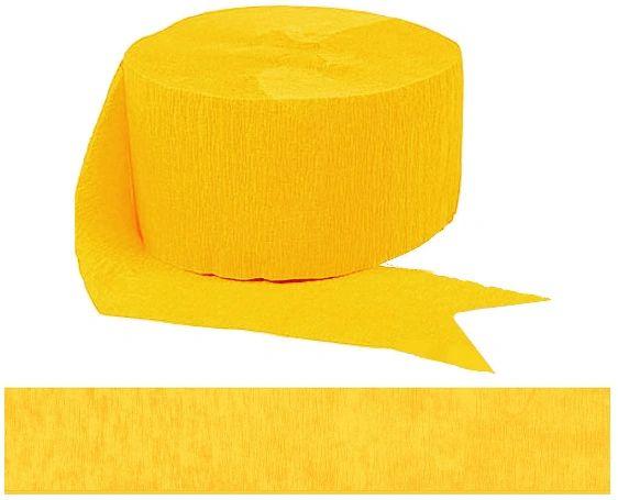 Sunshine Yellow Crepe Steamer, 81ft