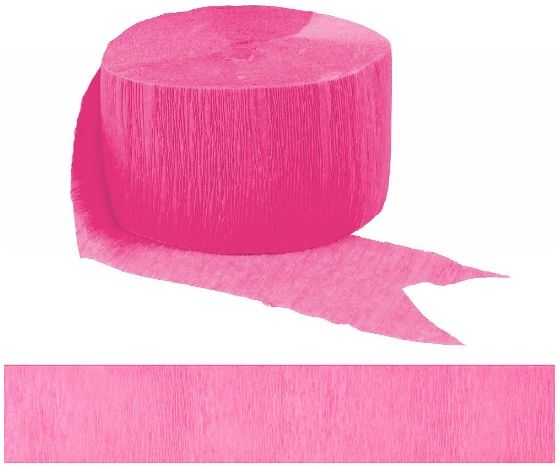 Solid Rolls Crepe - Bright Pink, 81ft