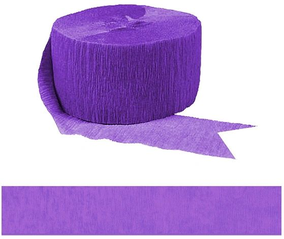Solid Rolls Crepe - New Purple, 81ft