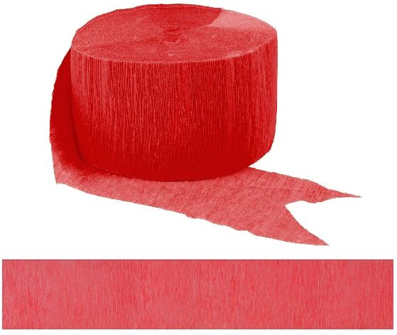 Solid Rolls Crepe - Apple Red, 81ft