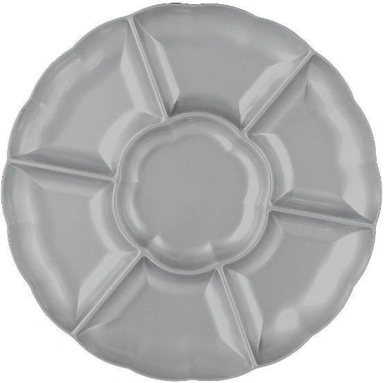 "Silver Dip & Chip Scalloped Platter, 16"""