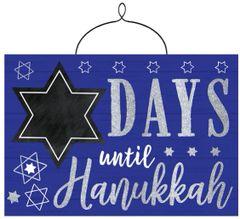 Hanukkah Countdown Chalkboard Sign