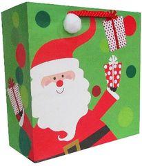 Whimsical Santa Large Square Bag