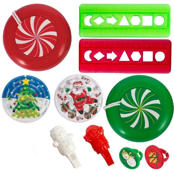 Christmas Super Mega Mix Plastic Favors, 100pc