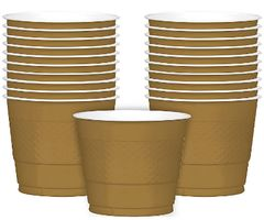 Gold Plastic Cups, 9 oz -20ct