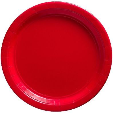 """Big Party Pack Red Dessert Paper Plates, 7"""" - 50ct"""