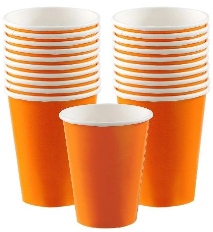 Orange Peel Paper Cups, 9oz - 20ct