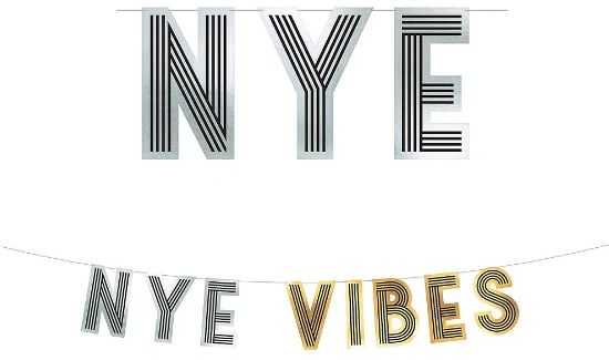 NYE Vibes Letter Banner, 12ft