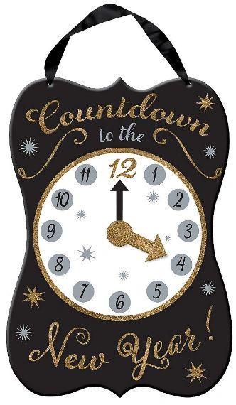 New Year's Countdown Medium Hanging Sign