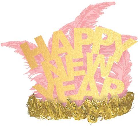 Happy New Year Tiara - Blush