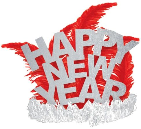 Happy New Year Tiara - Red