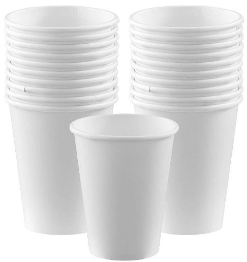Frosty White Paper Cups, 9oz - 20ct