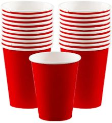 Apple Red Paper Cups, 9oz - 20ct