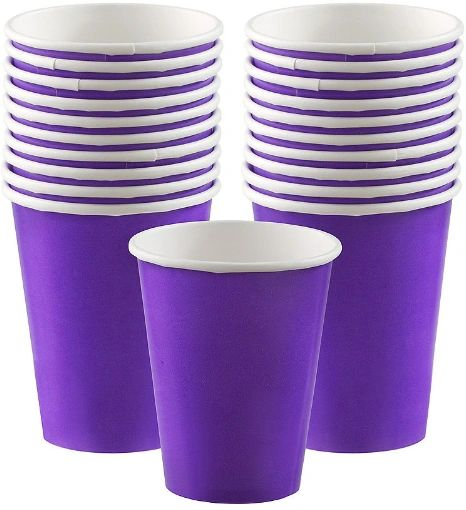 New Purple Paper Cups, 9oz - 20ct