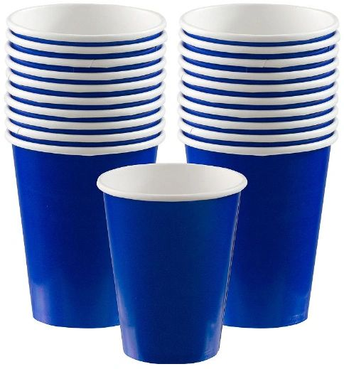 Bright Royal Blue Paper Cups, 9oz - 20ct