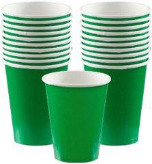Festive Green Paper Cups, 9oz - 20ct