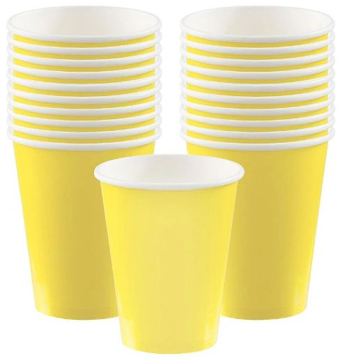 Light Yellow Paper Cups, 9oz - 20ct