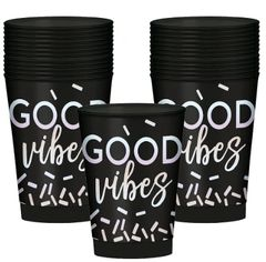 "Disco Ball Drop ""GOOD"" Vibes Tumblers, 10oz - 30ct"