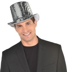 Disco Ball Drop Top Hat