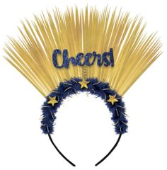 Midnight Cheers Headband, Marabou