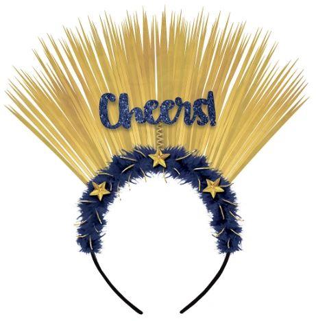 Midnight Cheers Headband, Marabou