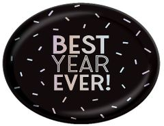 "Disco Ball Drop ""BEST YEAR EVER!"" Oval Platter"