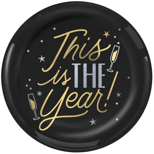 "This is the Year Coupe Plates, 10 1/4"" - 10ct"