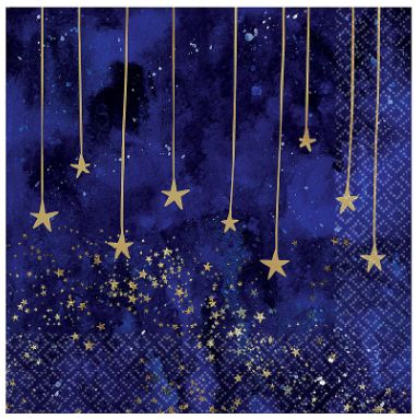 Midnight New Year's Eve Luncheon Napkins, 16ct