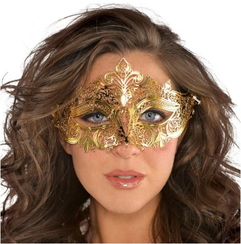 Gold Filigree Mask