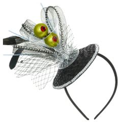 Martini Deluxe Headband - Black and Silver