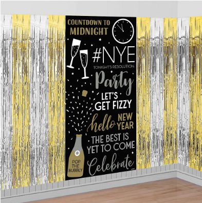 New Year's Fringe & Scene Setters® Combo Backdrop, 3ct