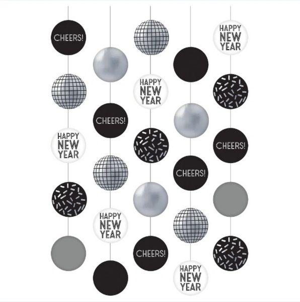 Disco Ball Drop Hanging Circle & String Decorations