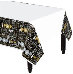 Celebrate The New Year Plastic Table Cover