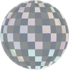 "Disco Ball Drop Iridescent Round Dessert Plates, 7"" - 8ct"