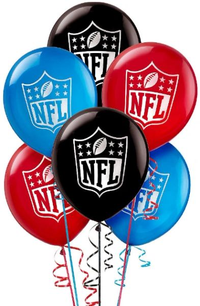 NFL Drive Printed Latex Balloons, 6ct