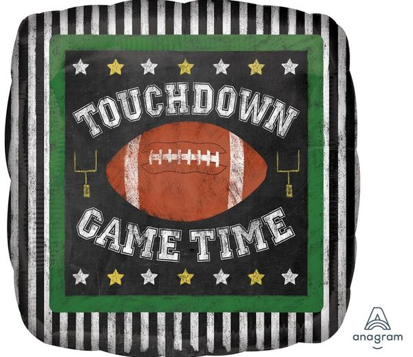 Game Time Football Balloon 18in