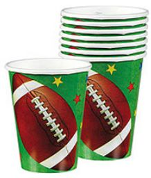 Football Fan Cups, 9oz - 8ct