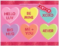 Candy Heart Horizontal Medium Gift Bag