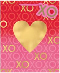 """XOXO"" Valentine's Day Large Gift Bag"