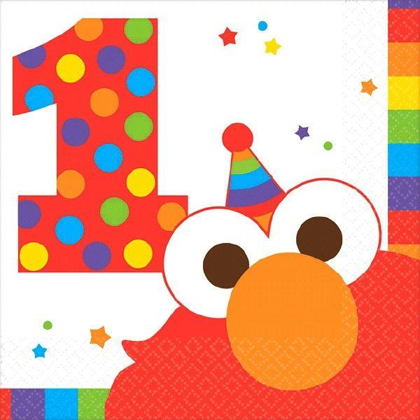 Sesame Street® Elmo Turns One Beverage Napkins, 16ct