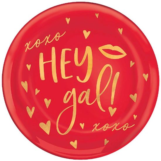 Hey Gal Coupe Dessert Plates, 4ct