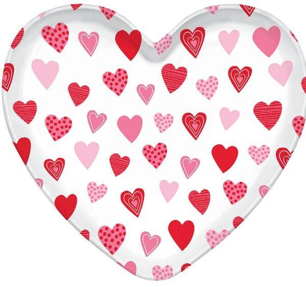 """Heart Shaped Tray, 15 1/2"""""""