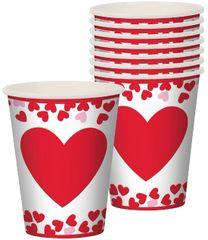 Confetti Hearts Cups, 9oz - 8ct