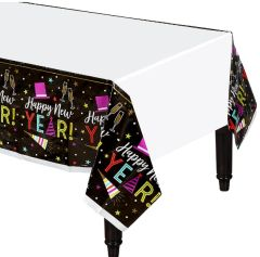 Bright New Year's Eve Plastic Table Cover