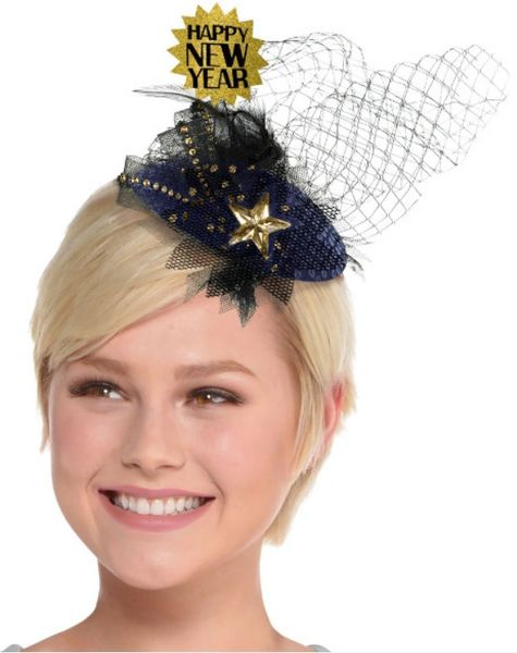 Midnight Happy NY Clip-On Couture Hat