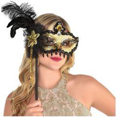 Glitzy Mask on a Stick