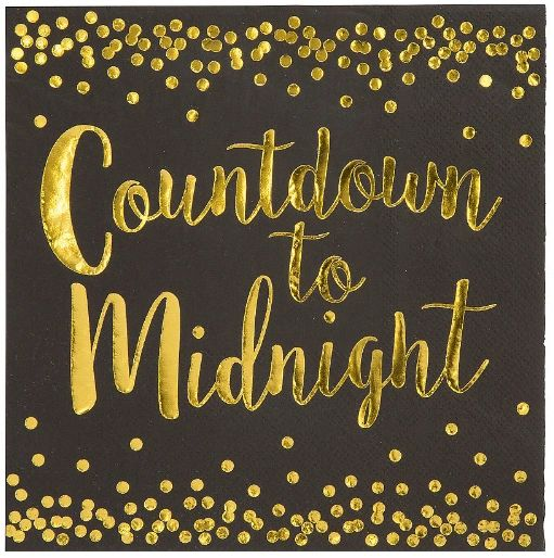 Countdown To Midnight Luncheon Napkins,16ct