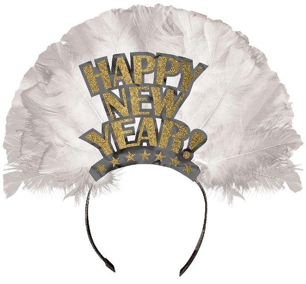 Happy New Year Deluxe Tiara - Gold